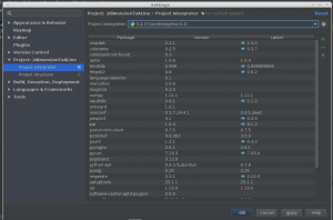 PyCharm Project Interpreter Dialog
