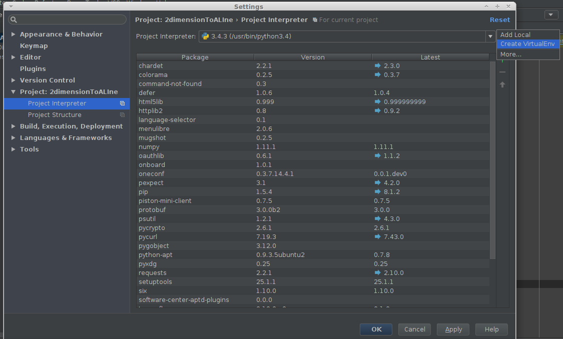 Tensorflow Virtualenv PyCharm | Lothar Schulz