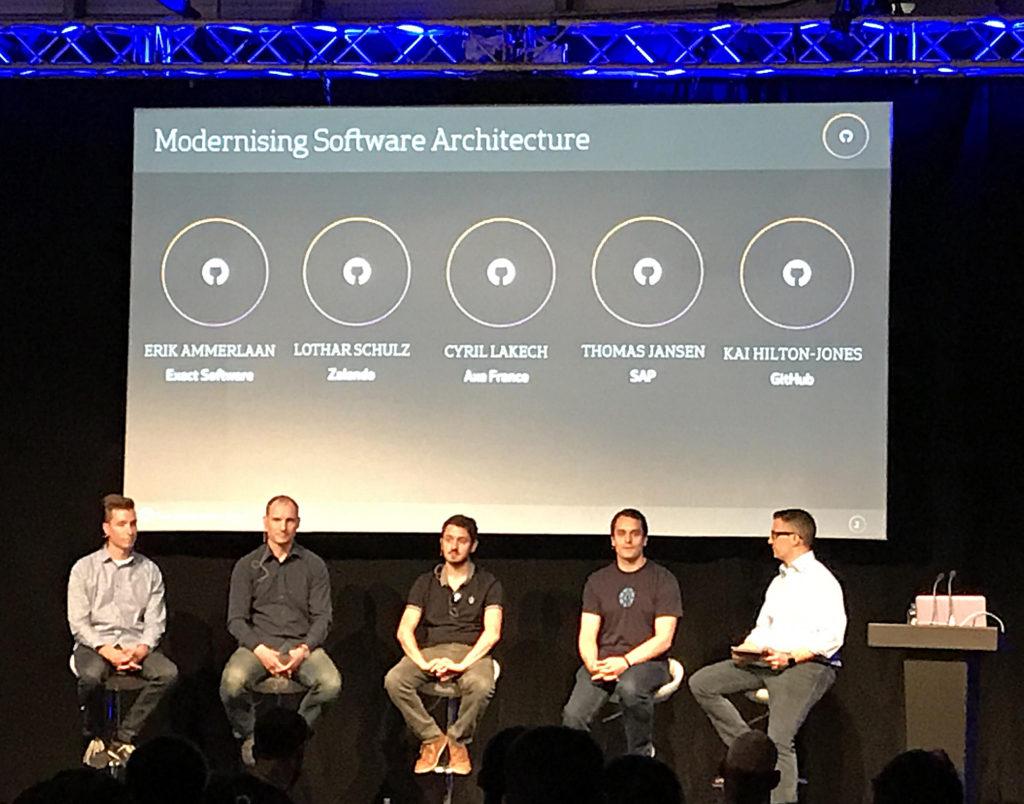 GitHub Satellite 2017 - Modernizing Software Architecture Panel Discussion