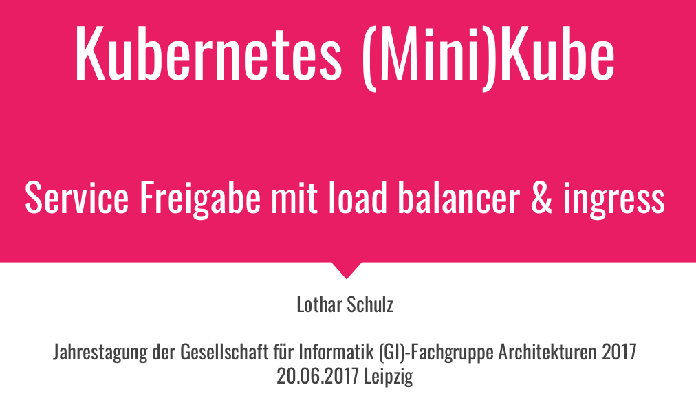 expose Kubernetes services with loadbalancers and ingress