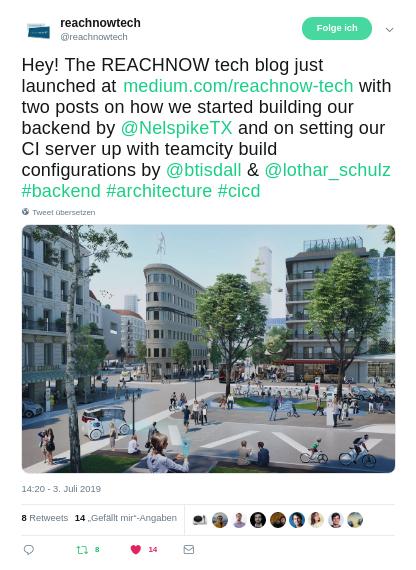 REACHNOW tech blog launch