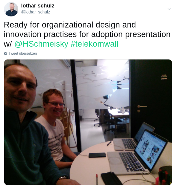"""talk """"organizational design and innovation practices for adoption"""""""