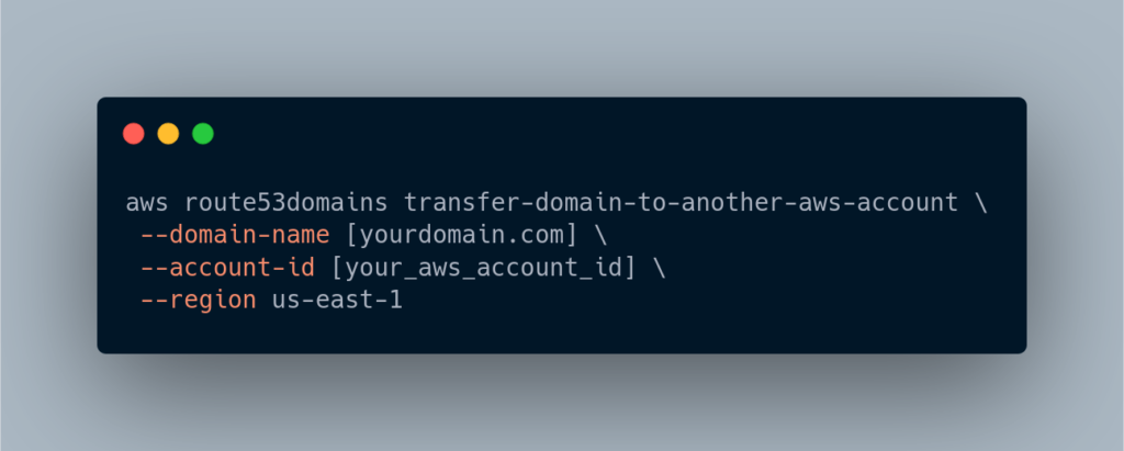 route53domains AWS CLI call