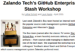zalando tech blog post abount github-enterprise stash workshop